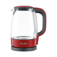 BREVILLE CRYSTAL CLEAR LITE CRANBERRY KETTLE