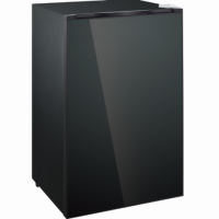 IMPRASIO 128L BLACK-GLOSS GLASS-DOOR FRIDGE *NEW*