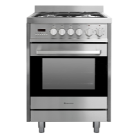 PARMCO 60CM S/S GAS-ELECTRIC STOVE W/LEGS *NEW*