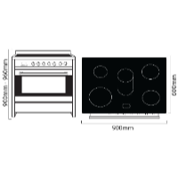 PARMCO 90CM S/S ELECTRIC STOVE *NEW* 7YR WTY!