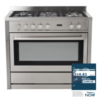 EUROTECH 90CM S/S GAS-ELECTRIC STOVE *NEW*