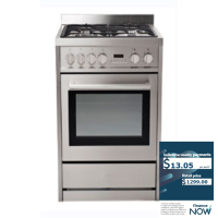 EUROTECH 60CM S/S GAS-ELECTRIC STOVE *NEW*