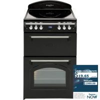 LEISURE 60CM BLK ELECTRIC STOVE *NEW*